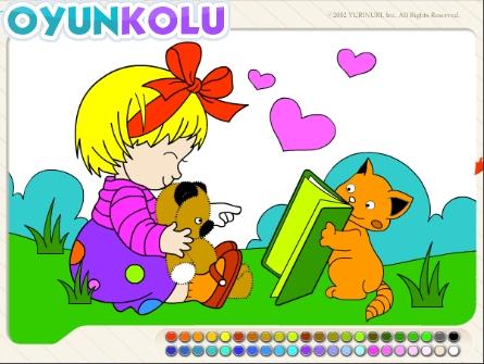 Boyama Sayfasi Rengarenk Boyalar Oyun Kolu Blog