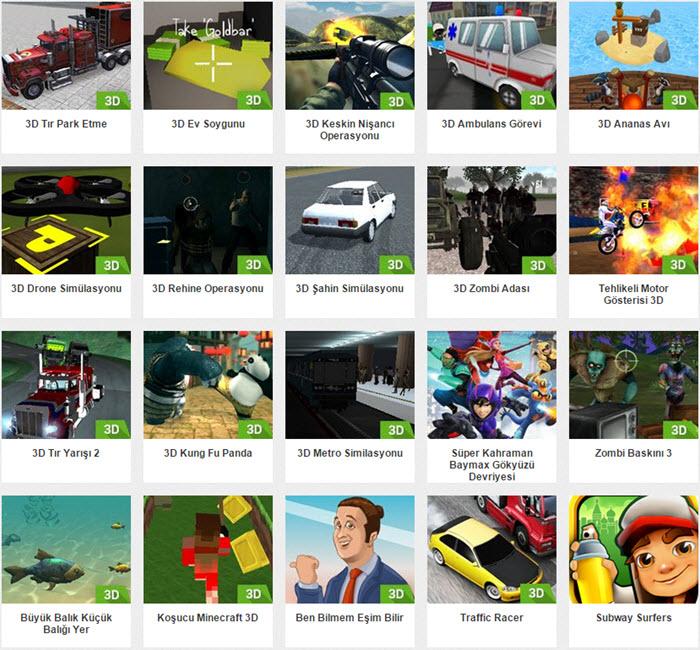 3D Oyun Oyna