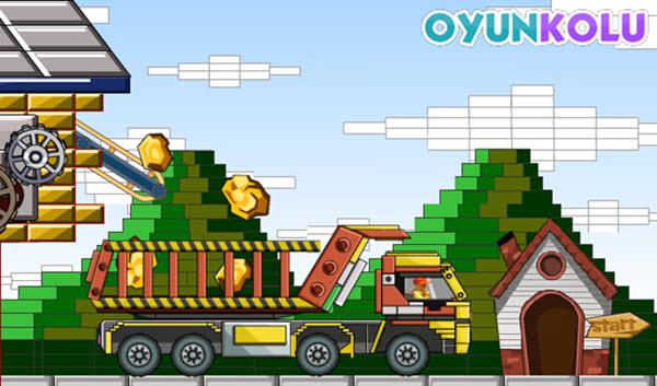 Lego Kamyonla Altın Taşıma